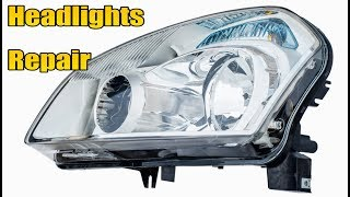 Car headlights replacement. Complete version with testing. DIY fix.