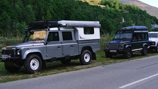 Land Rover Defender TD4 130 110 90 climb the mountain Au16
