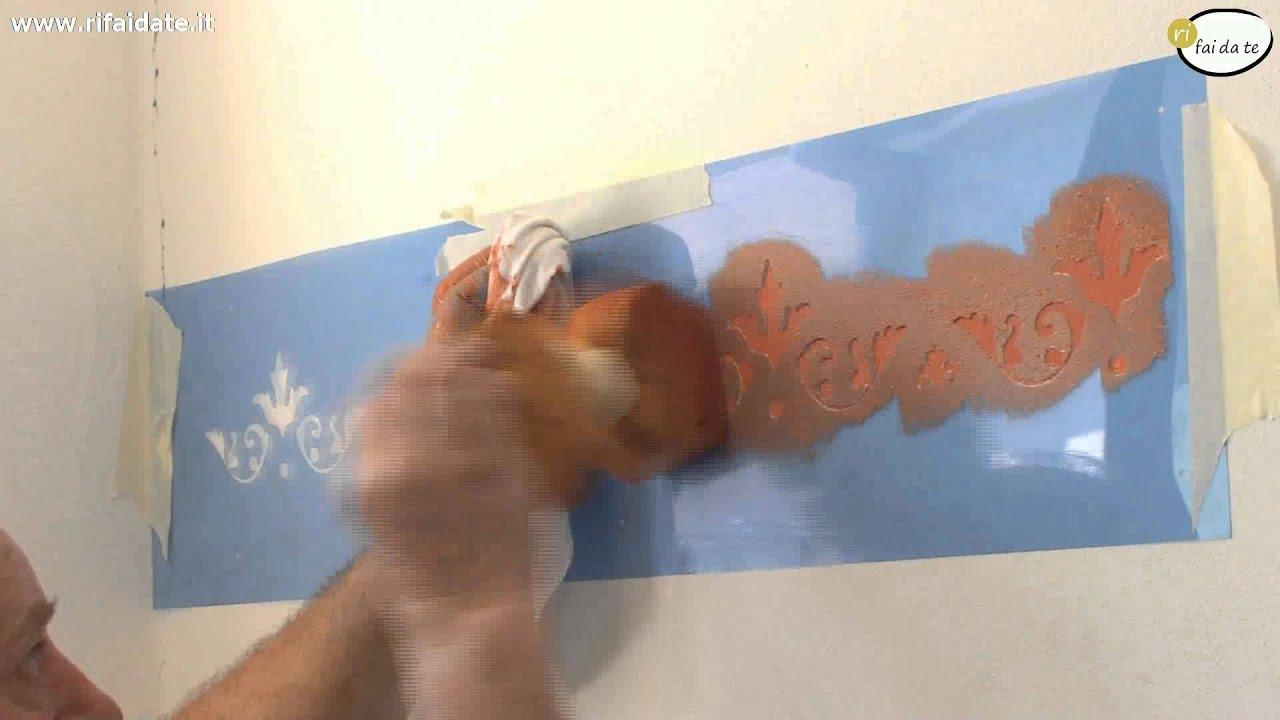 decorare le pareti tecnica stencil youtube