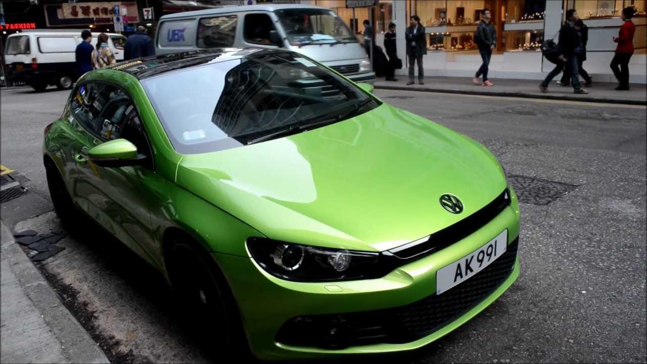 Hong Kong. Nice Green Volkswagen Scirocco - YouTube