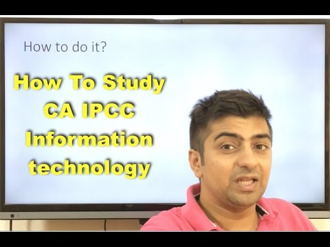 How To Study CA IPCC Information Technology | I just tried my level best | Please check