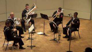 Navy Band Great Lakes Brass Quintet - West Side Story arr Jack Gale
