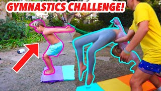 GYMNASTICS CHALLENGE  WITH COCO QUINN AND GAVIN MAGNUS! *HIS CRUSH*