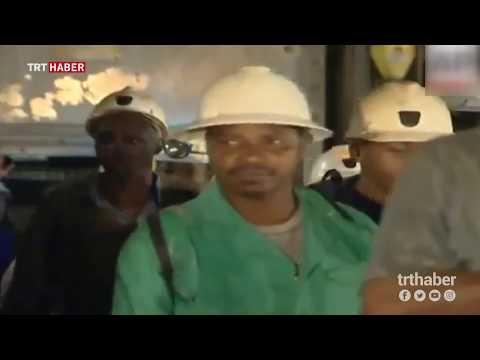 Güney Afrika'da altın madeninde 950 işçi mahsur kaldı.