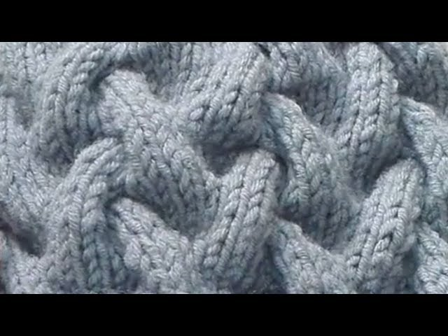 Узор спицами № 2. Коса с тенью (Knitting Pattern)