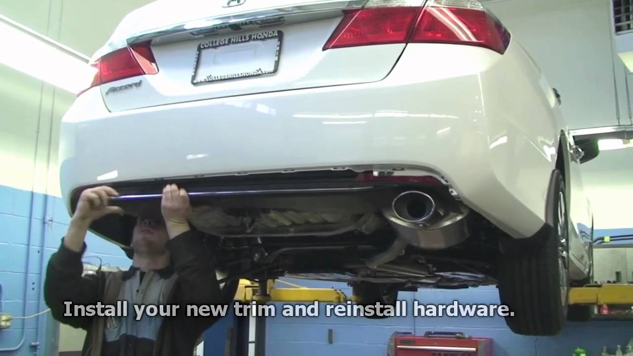 Episode #249 - 9th Generation Honda Accord Bumper Reflector Trim Installation - YouTube