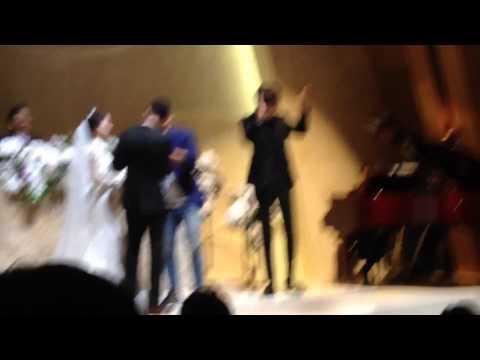 150328 Kim Jong Kook Singing At Lee Kwang Soo's Younger Sister Wedding video