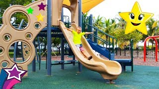Amazing FUN SLIDES at Kids Playground in Miami and Best Nursery Rhymes Songs For Children