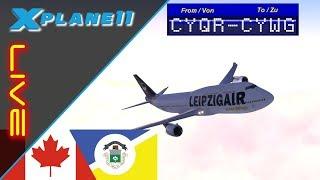 🔴 [LIVE] | X-Plane 11 | FSCloud | Regina (CYQR) - Winnipeg (CYWG) [GER]