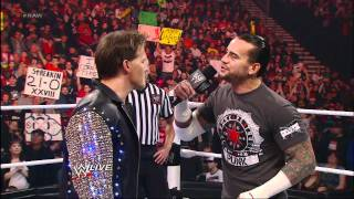 Raw: CM Punk and Chris Jericho trade verbal barbs about