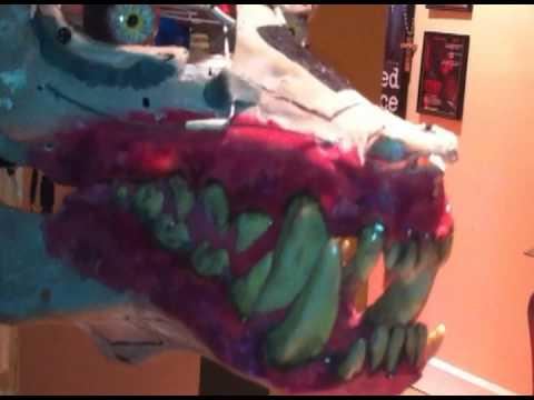 Animatronic Werewolf skull. thumbnail