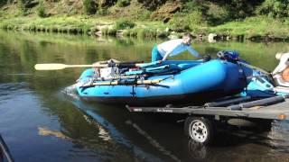 Roller Trailer Raft Launch
