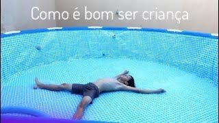 COMPRAMOS UMA PISCINA DE PLÁSTICO GIGANTE ♥ Vanessa Araújo