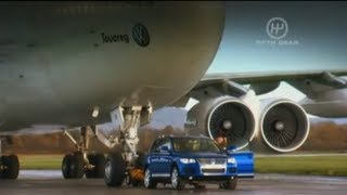 Towing A Jumbo Jet In A VW Touareg! - Fifth Gear