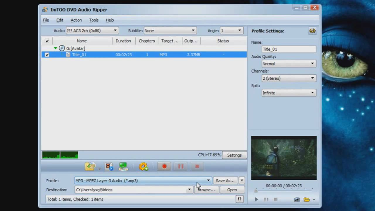 ImTOO DVD Audio Ripper - Extract Audio from DVDs to any audio format: MP3..