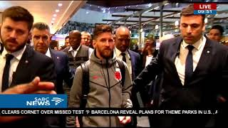 FC Barcelona arrives in SA for their clash with Mamelodi Sundowns FC