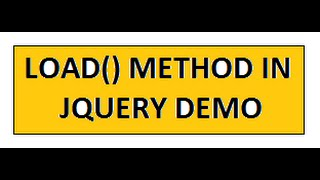 TAMIL LOAD METHOD IN JQUERY DEMO