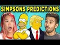 10 Mind Blowing Simpsons Predictions That Came True (React)