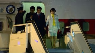 Japan PM Shinzo Abe arrives in Buenos Aires for G20