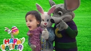 Chuck E Cheese Happy Dance with EASTER BUNNY / Jai Bista Show
