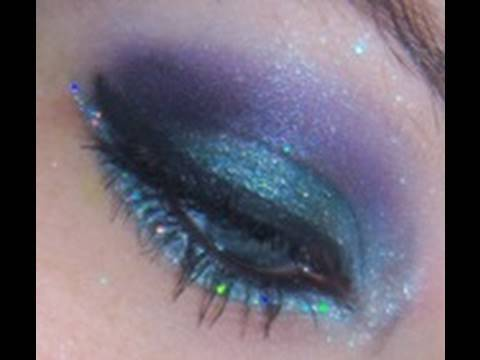 Midnight Mermaid. Glittery party eyes
