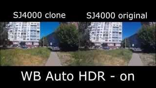 Test video SJ4000 clone vs original