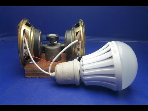 Free energy generator with magnets speaker 100% - Science projects 2018 thumbnail