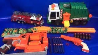 Box of Toys 🚛 Box Full of Toys 🚒 NERF Guns 🔫 Toy Trucks 💥 Toys for Kids 🎉 Kids Fun