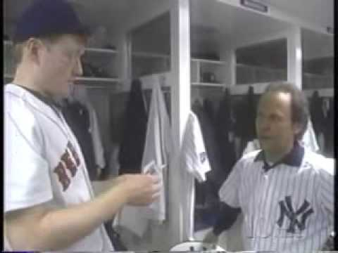 Conan and Billy Crystal Visit Yankee Stadium