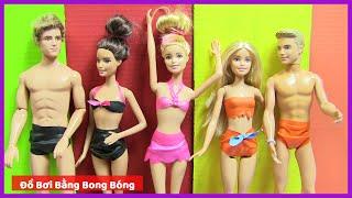 Tự Làm Đồ Bơi Cực Cute Bằng Bong Bóng Cho Búp Bê Barbie Ken - ĐỒ CHƠI TRẺ EM - Kênh Chị Bí Đỏ