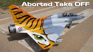 [Mirage 2000 Turbine Jet aborted takeoff] Video