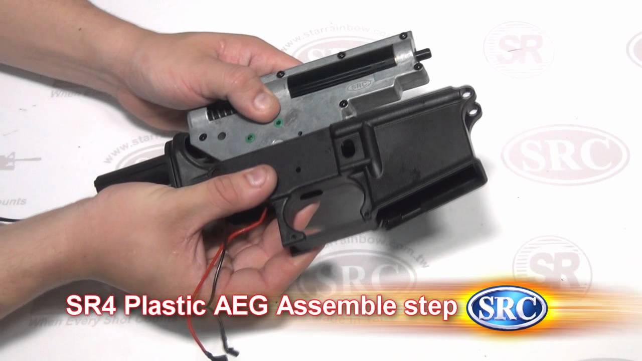 SRC SR4 Plastic 6mm Airsoft Rifle Field Strip & Assemble ...
