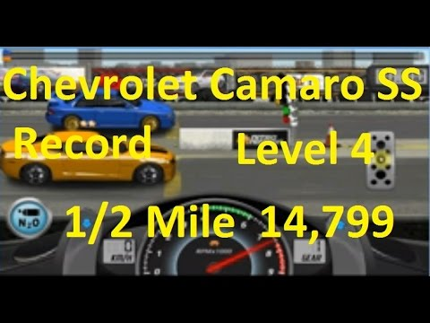 Drag Racing Chevrolet SS Competition Level 4 Tune  Almost Wordl Record 14.799 1/2 Mile