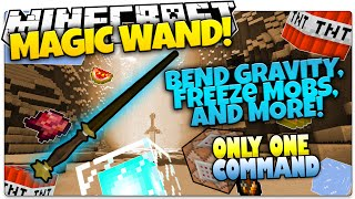 Minecraft | MAGIC WAND! | Become A Wizard! | Only One Command (One Command Creation)