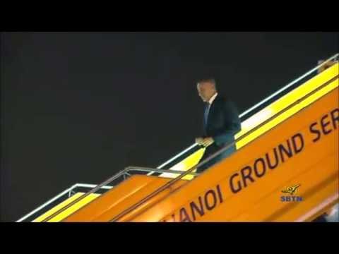 Tổng thống Obama đến Việt Nam trong sự chào đón nồng nhiệt của người dân