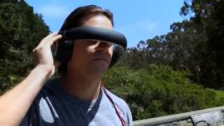 Flying Drone with Avegant Glyph HD A/V Headset