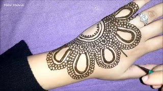 Pretty Arabic Henna - How To Do Simple Mehendi Design - Easy Elegant Mehndi Tattoo