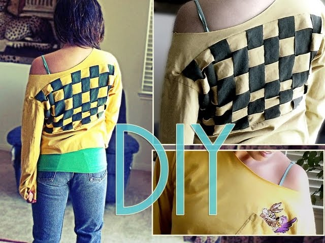 DIY: Chunky Weave Back Top!!