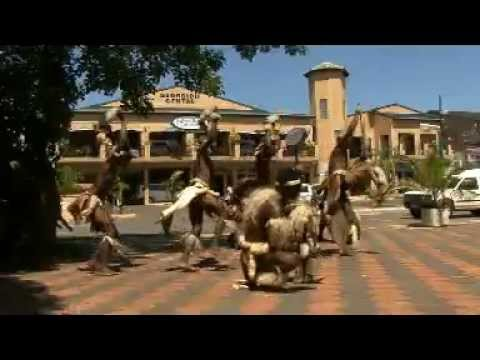 Zulu Dance in mainstreet St.Lucia
