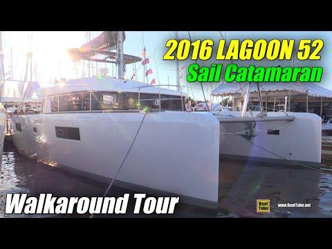 2016 Lagoon 52 Catamaran - Deck and interior Walkaround - 2015 Annapolis Sail Boat Show