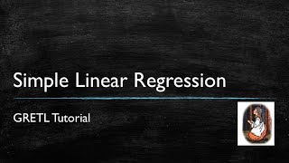 Gretl Tutorial 1: Simple Linear Regression