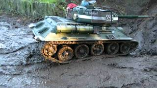 1:6 scale Tanks Playing in the Mudd