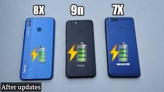 HONOR 8X VS 7X VS 9N - charging test | 0 - 100%