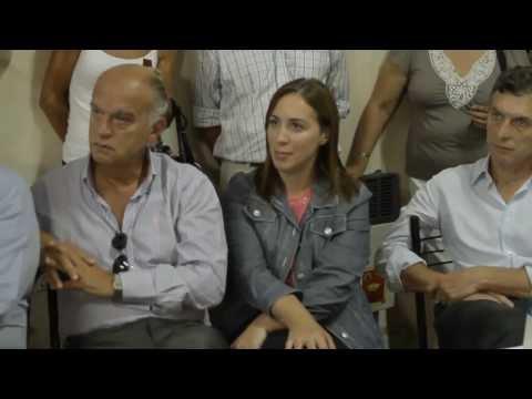 Mauricio Macri, María Eugenia Vidal y Jorge Macri en Lobos