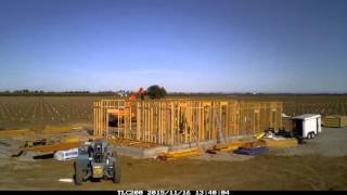 Custom Home Build Time Lapse 10-9