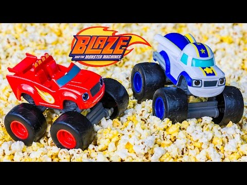 BLAZE AND THE MONSTER MACHINES  has a Funny Popcorn Adventure