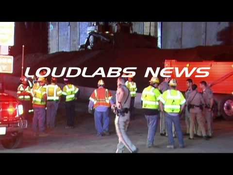 405 Freeway Construction Worker Killed / West Los Angeles   RAW FOOTAGE