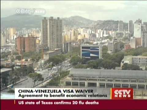 China & Venezuela: Mutual visa free agreement takes effect