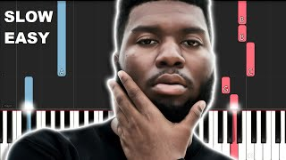 Khalid Young Dumb And Broke Slow Easy Piano Tutorial