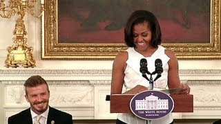 First Lady Michelle Obama Welcomes Kids to a Let